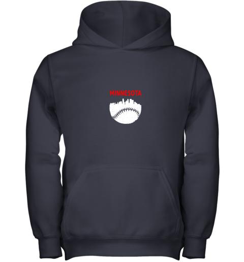 2rn7 retro minnesota baseball minneapolis cityscape vintage shirt youth hoodie 43 front navy