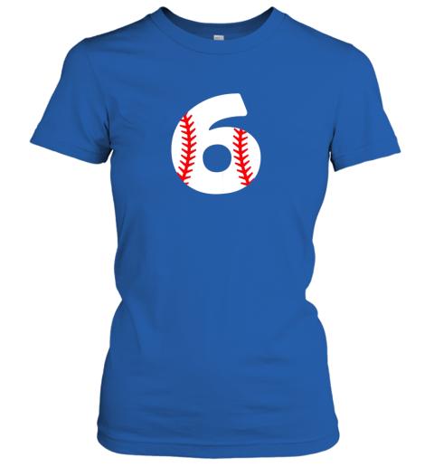 p84w sixth birthday 6th baseball shirtnumber 6 born in 2013 ladies t shirt 20 front royal