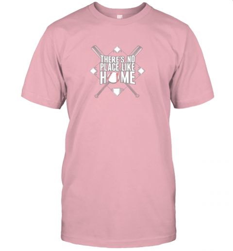 srw7 there39 s no place like home baseball tshirt mom dad youth jersey t shirt 60 front pink