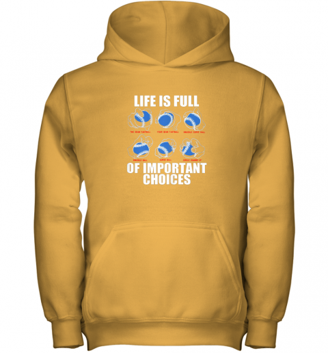 9ar1 types of baseball pitches shirt life choices pitcher gift youth hoodie 43 front gold