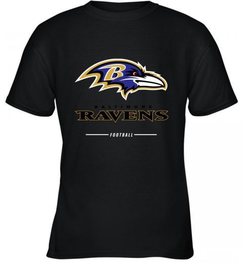 rsqv mens baltimore ravens nfl pro line black team lockup t shirt youth t shirt 26 front black