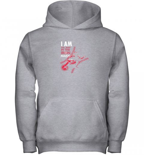 wuor i am the man in the iron mask baseball catcher youth hoodie 43 front sport grey
