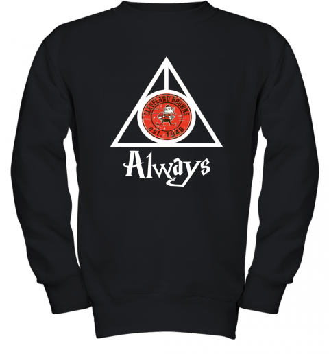 Always Love The Cleveland Browns x Harry Potter Mashup Youth Sweatshirt