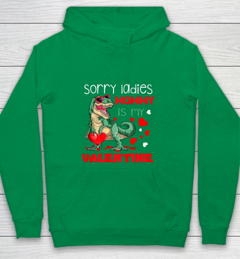 Sorry Ladies Mommy Is My Valentine Day T Rex Dinosaur Gift Youth Hoodie 4