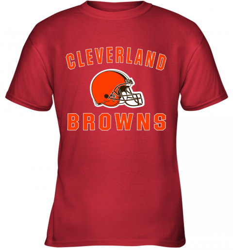 ab4y cleveland browns nfl line by fanatics branded brown victory youth t shirt 26 front red