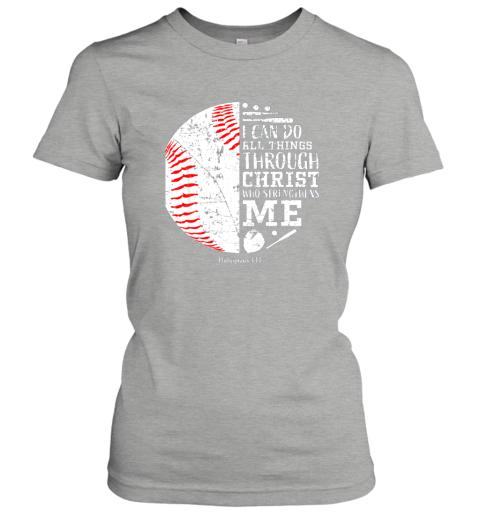 ittw christian baseball shirts i can do all things through christ ladies t shirt 20 front ash