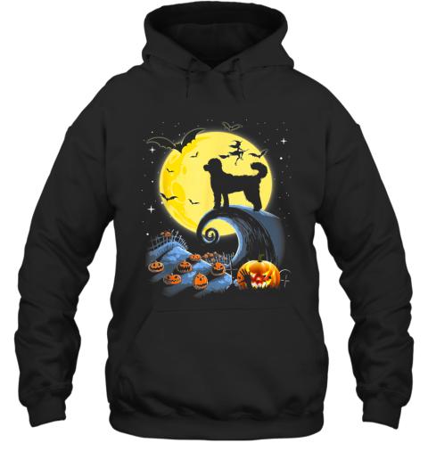 Standard Poodle Dog And Moon Funny Halloween Costume Gift Hoodie