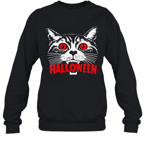 Purr Evil Satanic Cat Halloween Gift For Cat Lovers Sweatshirt