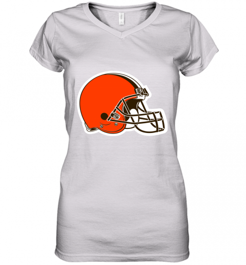 Cleveland Browns NFL Pro Line by Fanatics Branded Brown Victory Women's V-Neck T-Shirt
