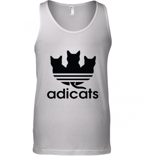 Adicats Three Black Cats Adidas Logo Mashup Tank Top