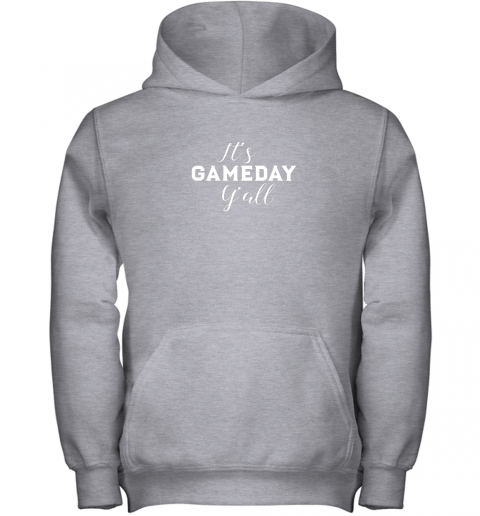 lolz it39 s game day y39 all football baseball basketball youth hoodie 43 front sport grey