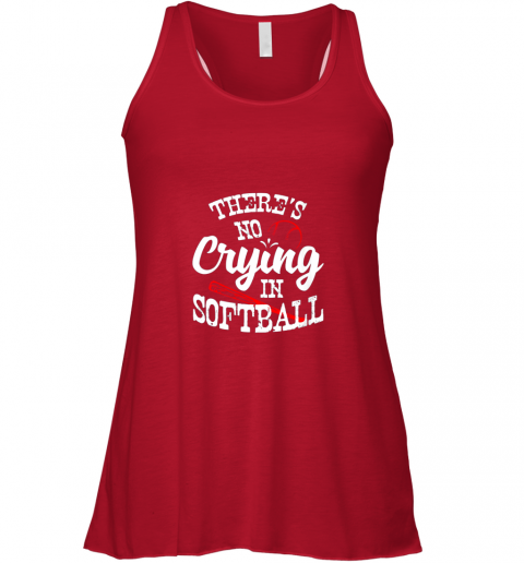 nkz2 theres no crying in softball game sports baseball lover flowy tank 32 front red