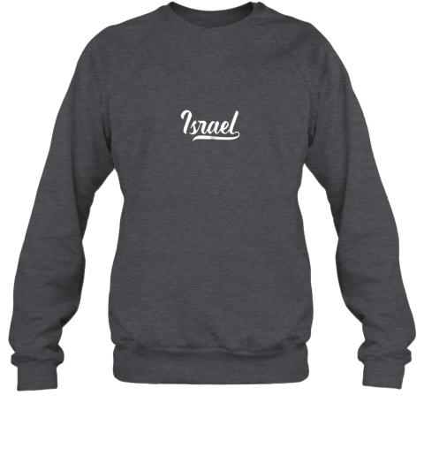 y8o6 israel baseball national team fan cool jewish sport sweatshirt 35 front dark heather