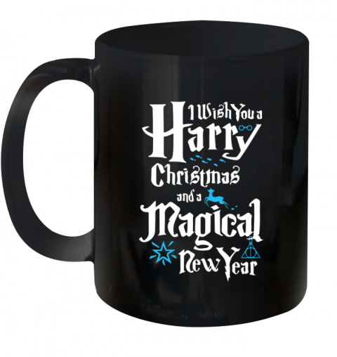 Wish You A Harry Christmas And A Magical New Year Harry Potter Ceramic Mug 11oz
