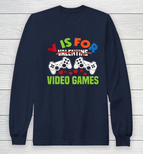 Funny Video Games Lover Valentine Day Long Sleeve T-Shirt 2