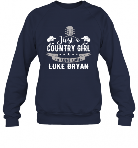 ykas just a country girl in love with luke bryan shirts sweatshirt 35 front navy