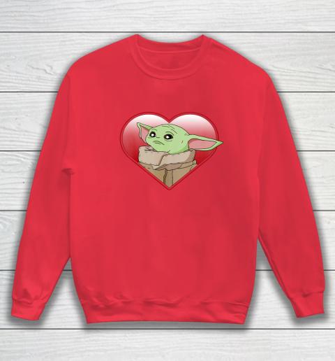 Star Wars The Mandalorian The Child Valentine Heart Portrait Sweatshirt 7
