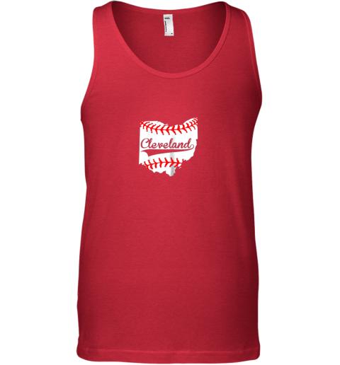 ujlb cleveland ohio 216 baseball unisex tank 17 front red