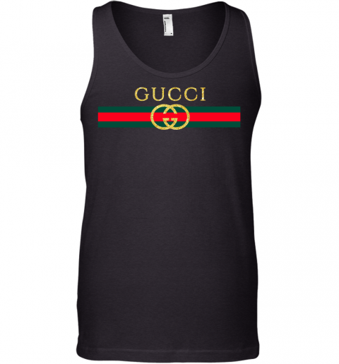 Gucci Logo Glitter Vintage Inspired Trend Mens Tank Top