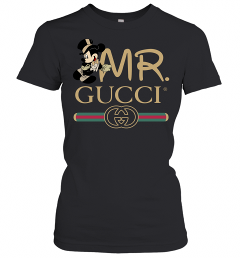 Gucci Couple Disney Mickey Valentine's Day Gift Womens T-Shirt