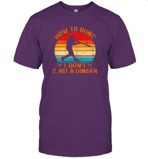 wjat how to bunt don39 t hit a dinger baseball jersey t shirt 60 front team purple