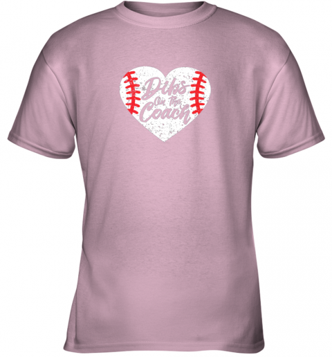 hwzx dibs on the coach funny baseball youth t shirt 26 front light pink