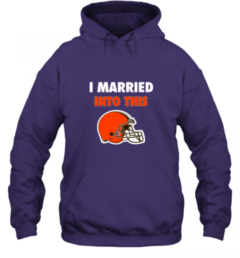 zw8p i married into this cleveland browns football nfl hoodie 23 front purple