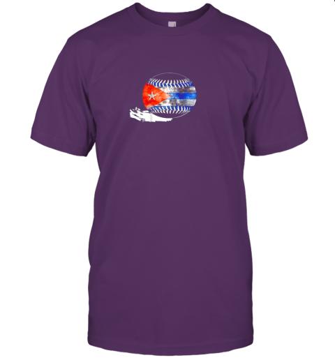 pht6 vintage baseball cuba flag shirt cuban pride jersey t shirt 60 front team purple