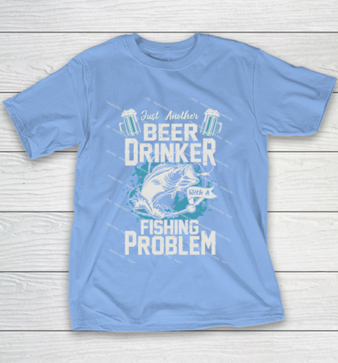 Beer Lover Funny Shirt Fishing ANd Beer Youth T-Shirt 8