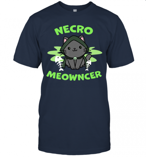 Necromeowncer  Necromancer Cat Tabletop RPG Halloween T-Shirt
