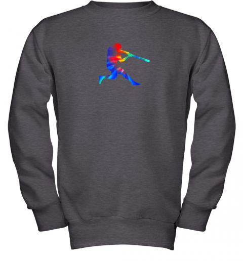 c7yp tie dye baseball batter shirt retro player coach boys gifts youth sweatshirt 47 front dark heather