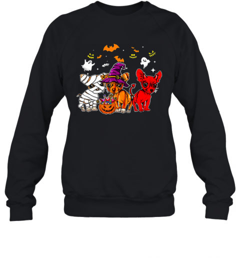 Chihuahua Happy Halloween, Cute mummy witch demon chihuahua Sweatshirt