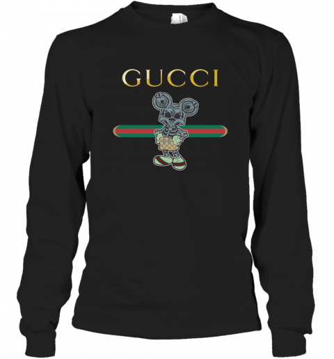 Gucci Skeleton Mickey Mouse Long Sleeve T-Shirt