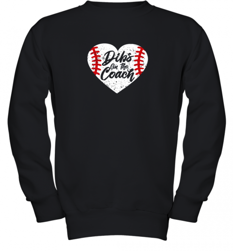 Dibs On The Coach Funny Baseball Youth Sweatshirt