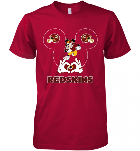 hkdl i love the redskins mickey mouse washington redskins premium guys tee 5 front red