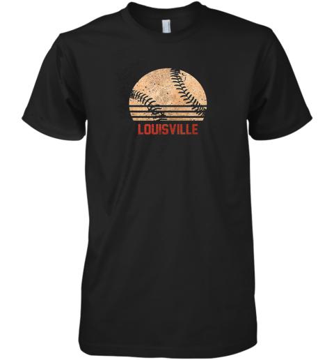 Vintage Baseball Louisville Shirt Cool Softball Gift Premium Men's T-Shirt