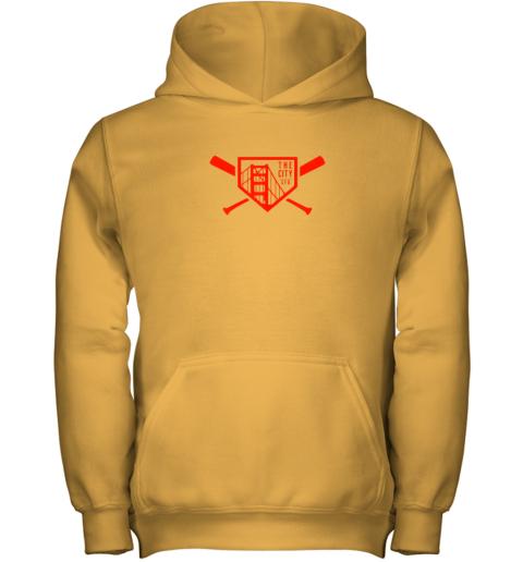 i4kr cool san francisco baseball the city bridge sfo youth hoodie 43 front gold