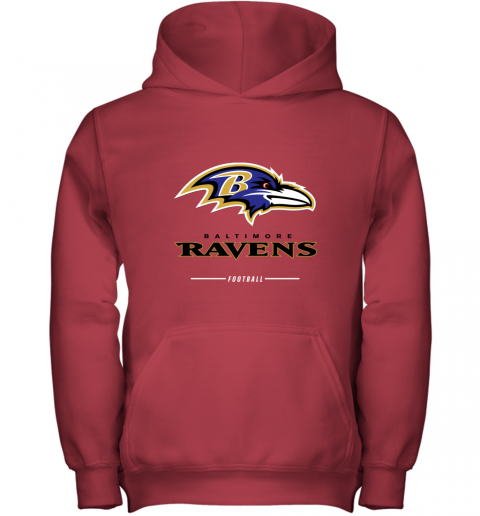 jehz mens baltimore ravens nfl pro line black team lockup t shirt youth hoodie 43 front red