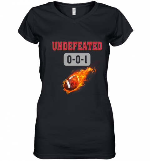 NFL HOUSTON TEXANS LOGO Undefeated Women's V-Neck T-Shirt