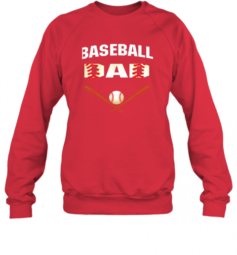 8snl mens baseball dad shirtbest gift idea for fathers sweatshirt 35 front red