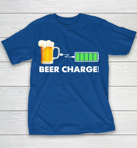 Beer Lover Funny Shirt Beer Charge Youth T-Shirt 6