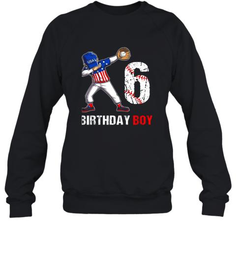 Kids 6 Years Old 6th Birthday Baseball Dabbing Shirt Gift Party Sweatshirt