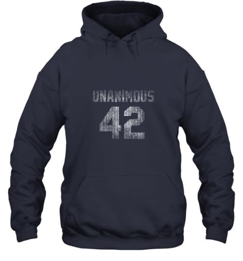 ins0 new york 42 baseball unanimous hof distressed mo hero hoodie 23 front navy