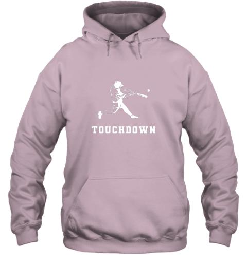 ijxl touchdown baseball shirtfunny sarcastic novelty hoodie 23 front light pink