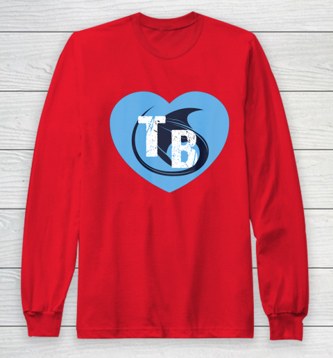 Stingray Love Tampa Bay Vintage TB Cool Tampa Bay Heart Long Sleeve T-Shirt 10