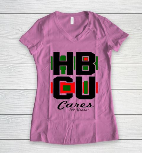 HBCU Cares College University Graduation Gift Black School Women's V-Neck T-Shirt 8