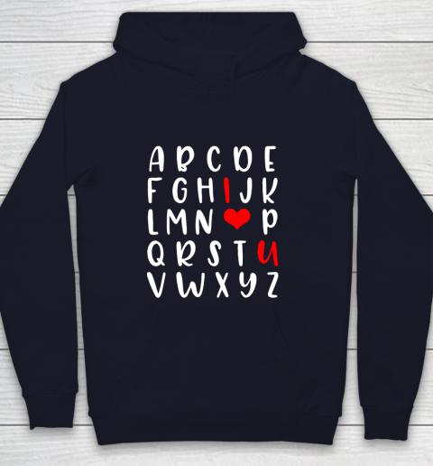 Alphabet ABC I Love You Romance Valentine Slogan Youth Hoodie 2