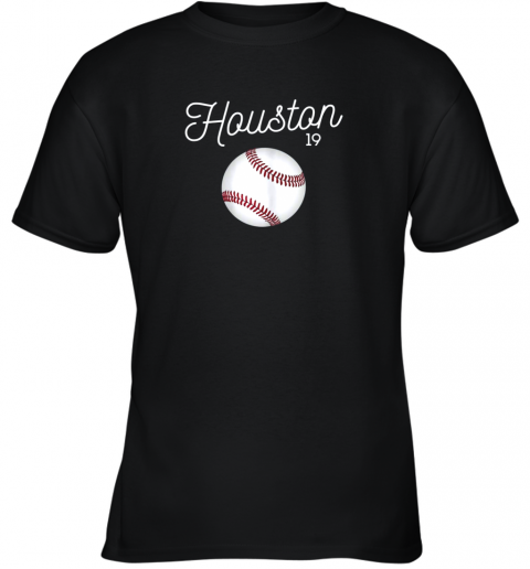 Houston Baseball Shirt Astro Number 19 and Giant Ball Youth T-Shirt