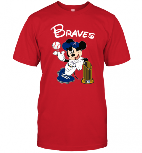hnw2 atlanta braves mickey taking the trophy mlb 2019 jersey t shirt 60 front red