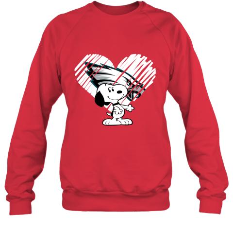 lnm3 i love philadelphia eagles snoopy in my heart nfl sweatshirt 35 front red